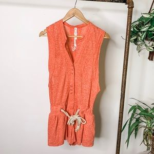 Free People Movement Coral Romper
